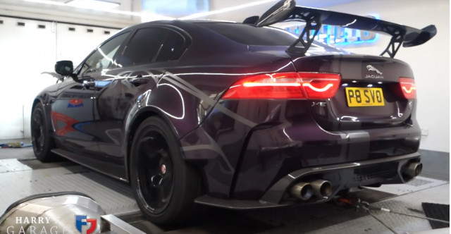 Harry Metcalfe puts his Jaguar Project 8 XE on a dyno