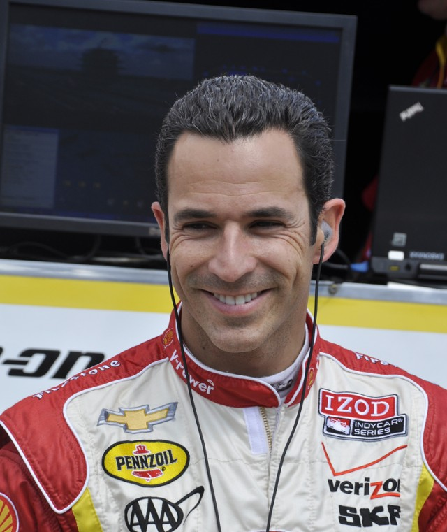 Helio Castroneves at his