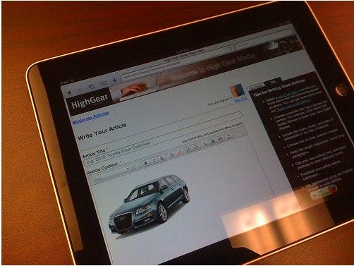 High Gear Media on the iPad
