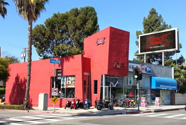 Hollywood Electrics motorcycle shop