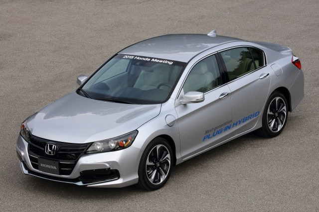 Honda Accord As Development Prototype Of Next Generation Plug In Hybrid Meeting