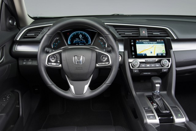 Honda Civic Sedan Sleek Lines Turbo Engine Cvt For Efficiency