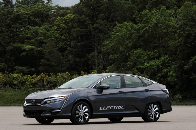 Honda Clarity Electric at Honda R&D Center, Tochigi, Japan, June 2017