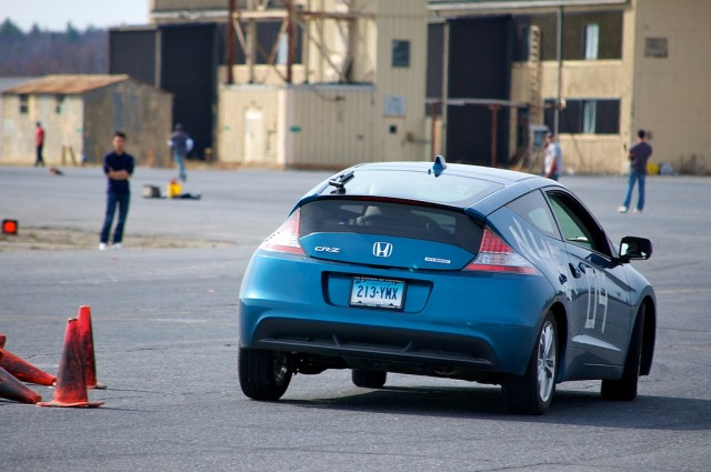 Honda Cr Z Hybrid Car On An Autocross Course Image Flickr User Nowin