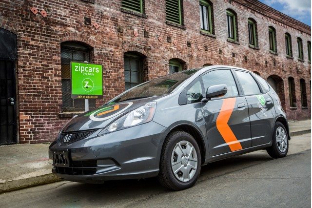 Honda Fit used in ZipCar's ONE>WAY car-sharing service