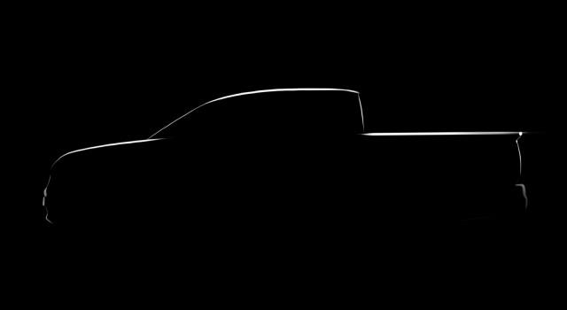 Official design sketch previewing 2016 Honda Ridgeline
