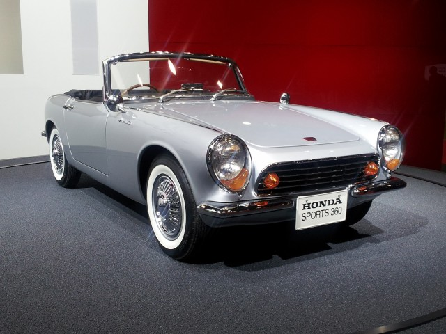 Honda S360 sports car prototype from 1962, on display at 2013 Tokyo Motor Show