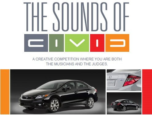 Honda Sounds of Civic contest