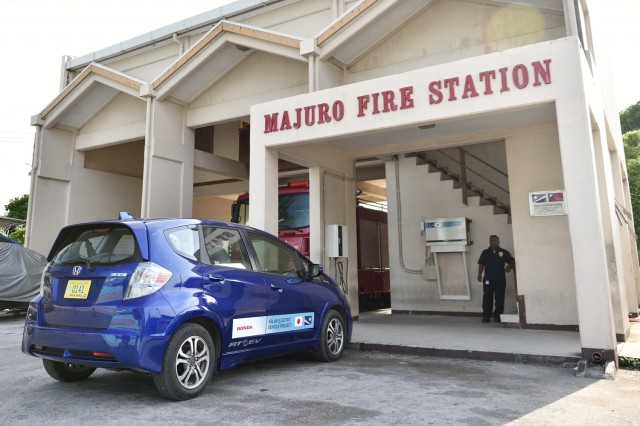 Honda tests electric-car charging in the Marshall Islands