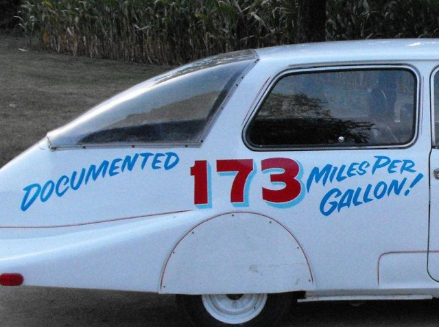 Experimental 1972 Honda 600 modified for fuel efficiency, from eBay