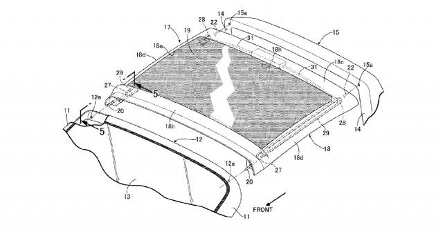 Honda targa top patent