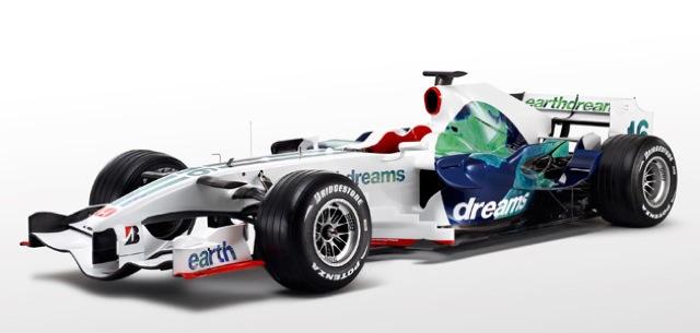 Honda's 2008 F1 effort, in 'Earthdreams' livery