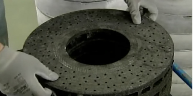 How carbon ceramic brakes are made