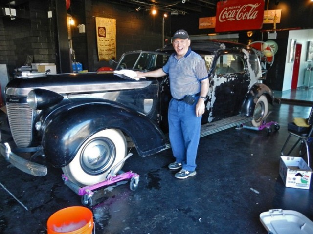 Howard Kroplick and the 1937 Chrysler Imperial Town Car  Image: Jim Donnelly for Hemmings Motor News