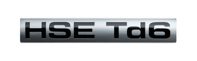 HSE Td6 badge fitted to Land Rover's diesel-powered Range Rover