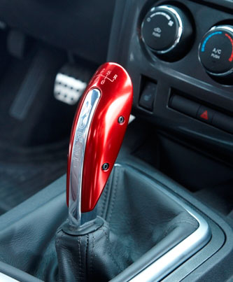 Hurst Challenger Red Anodized Shifter