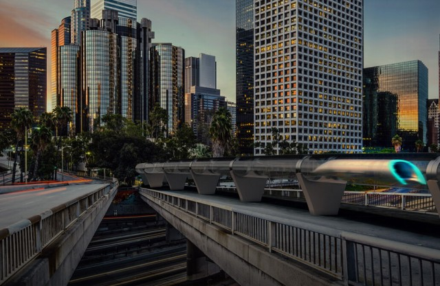 Hyperloop concept - Image via Hyperloop Transportation Technologies