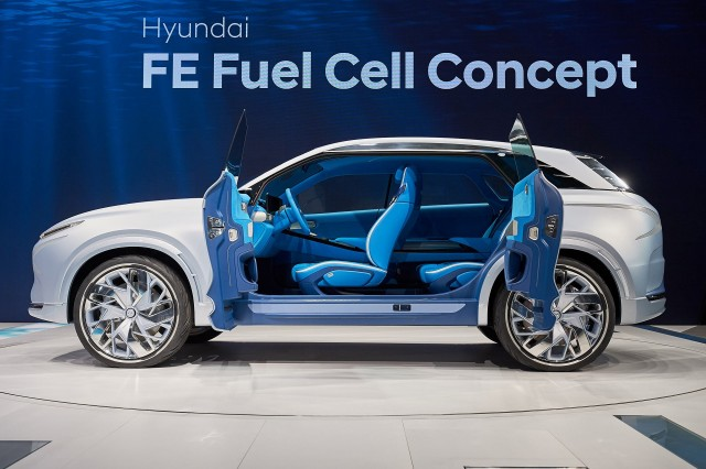 2018 hyundai fuel cell. beautiful hyundai hyundai fe fuel cell concept 2017 geneva auto show on 2018 hyundai fuel cell a