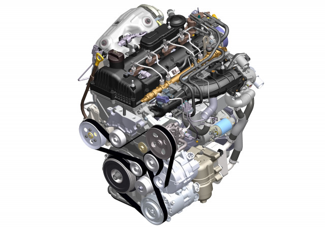 Hyundai-Kia's 2.2-liter CRDI R-Engine inline-4 turbodiesel