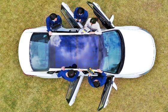 Hyundai Motor Group solar charging system