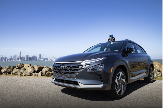 Hyundai Nexo with Aurora Innovation self-driving technology