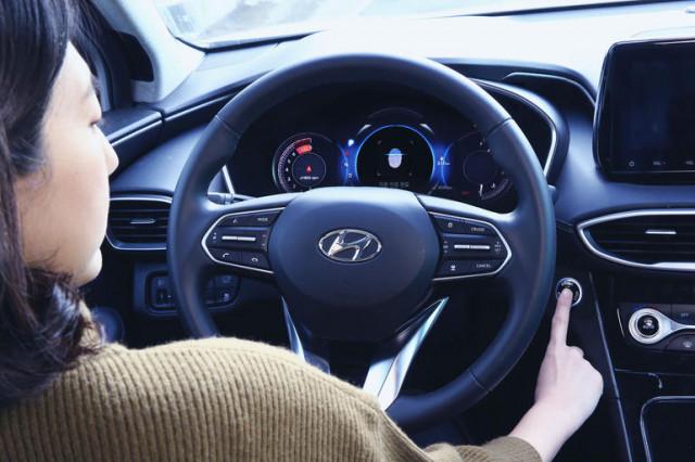 2019 Hyundai Santa Fe fingerprint scanner technology in China