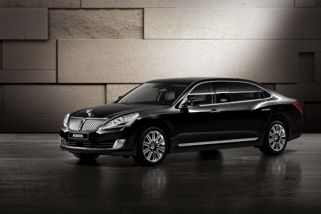Hyundai's armored Equus limousine - image: Hyundai