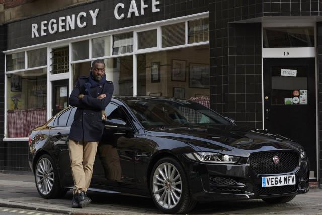 Idris Elba and the 2017 Jaguar XE