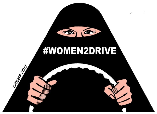 Illustration for the #Women2Drive campaign in Saudi Arabia