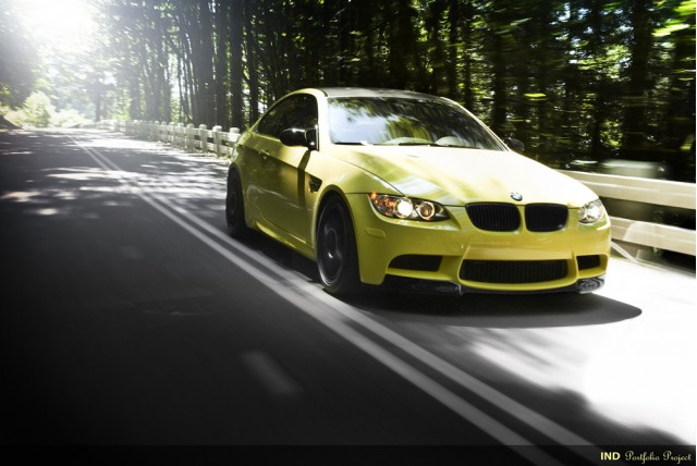 Ind Distribution Presents The First Dakar Yellow E92 M3 In North America