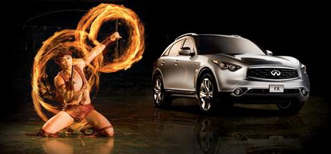 Infiniti ad featuring Cirque du Soleil