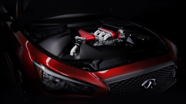 Infiniti Q50 Eau Rouge engine