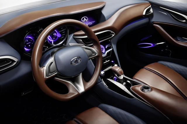Infiniti Concept Small Luxury Suv Previews Model At