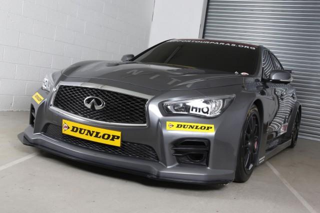 Infiniti Support Our Paras Racing Q50 race car for 2015 BTCC