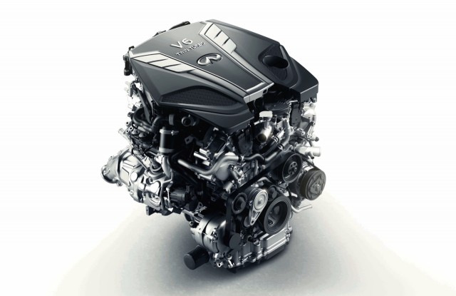 Infiniti 'VR' twin-turbo V-6 engine