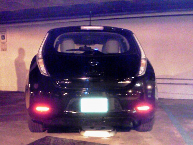 Installation of Plugless Power wireless charging system in Nissan Leaf & Hertz HQ, Park Ridge, NJ