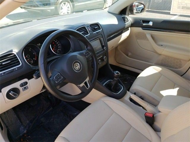 Interior of 2011 Volkswagen TDI Sportwagen listed for sale after emissions repairs