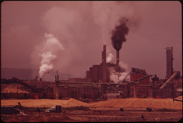 International Paper Company mill, 1973 [From EPA Documerica series]