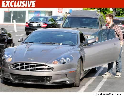 Jack Osbourne with his Aston Martin [via TMZ]