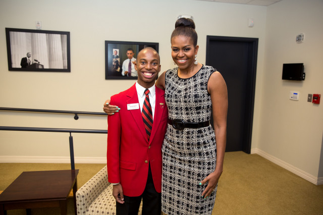 Jacob Smith and Michelle Obama