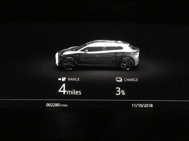Jaguar I-Pace end of 184-mi road trip (no recharge)