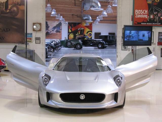 Jaguar C-X75 concept car, Jay Leno's Garage, Burbank, CA, before 2010 Los Angeles Auto Show