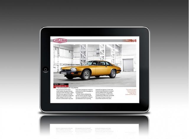 Jaguar 75th anniversary Apple iPad app