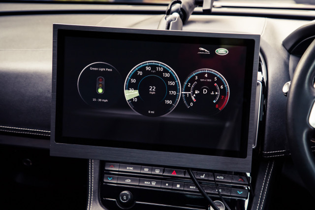 Jaguar-Land Rover Green Light Optimal Speed Advisory system