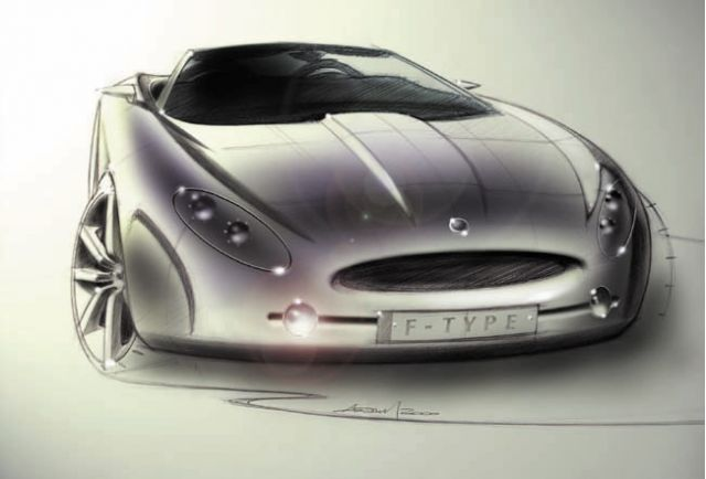Jaguar F-Type concept sketch