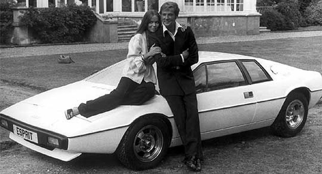 One of the most famous Bond cars is the Lotus Esprit, which was driven underwater in The Spy Who Loved Me