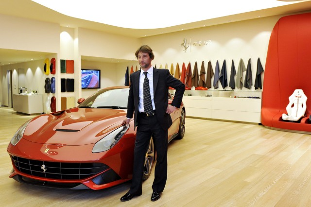 Jamiroquai lead singer Jay Kay at Ferrari's headquarters in Maranello, Italy