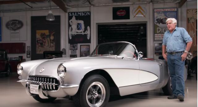Jay Leno and his 1957 Chevrolet Corvette