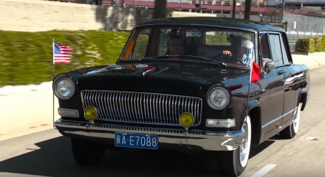 Jay Leno drives a Chinese-made Hongqi
