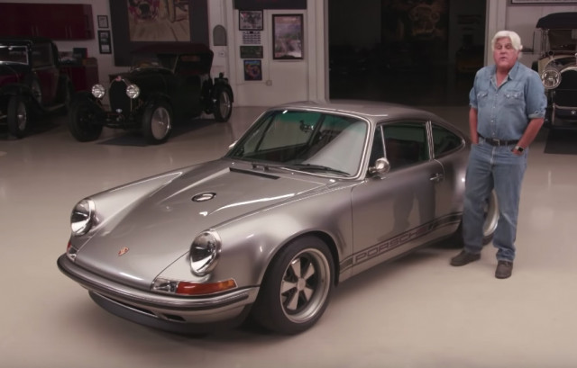 Jay Leno drives Singer's 100th re-imagined Porsche 911